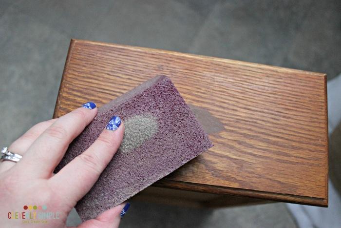 sanding before gel stain