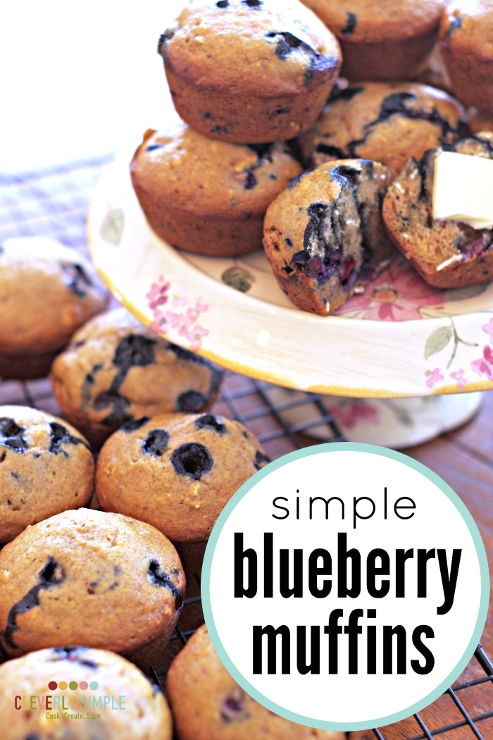 Simple Blueberry Muffin Recipe Cleverly