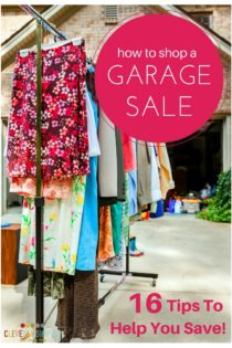 How To Shop A Garage Sale – 16 Tips To Help You Save!