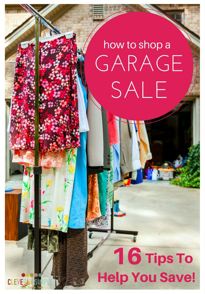 how to shop a garage sale