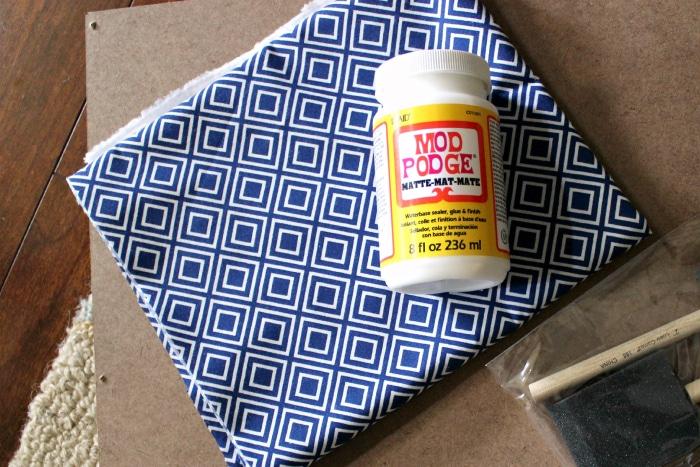 How to add fabric to wood on Ikea Rast