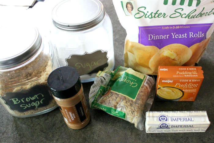 ingredients for easy sticky buns