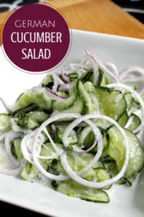 Using Your Garden Veggies: German Cucumber Salad
