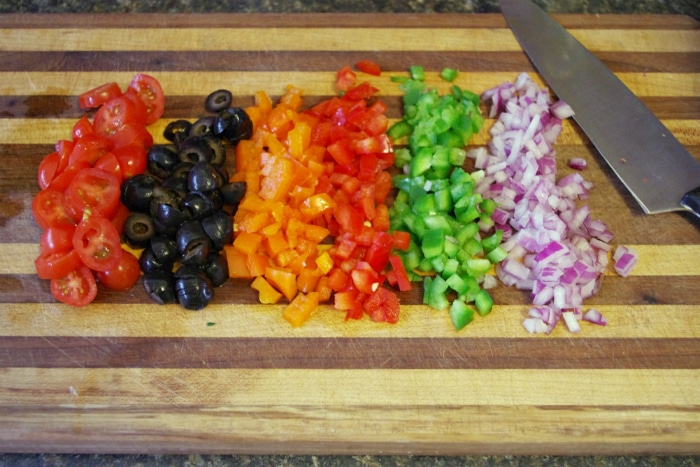 peppers in pasta salad
