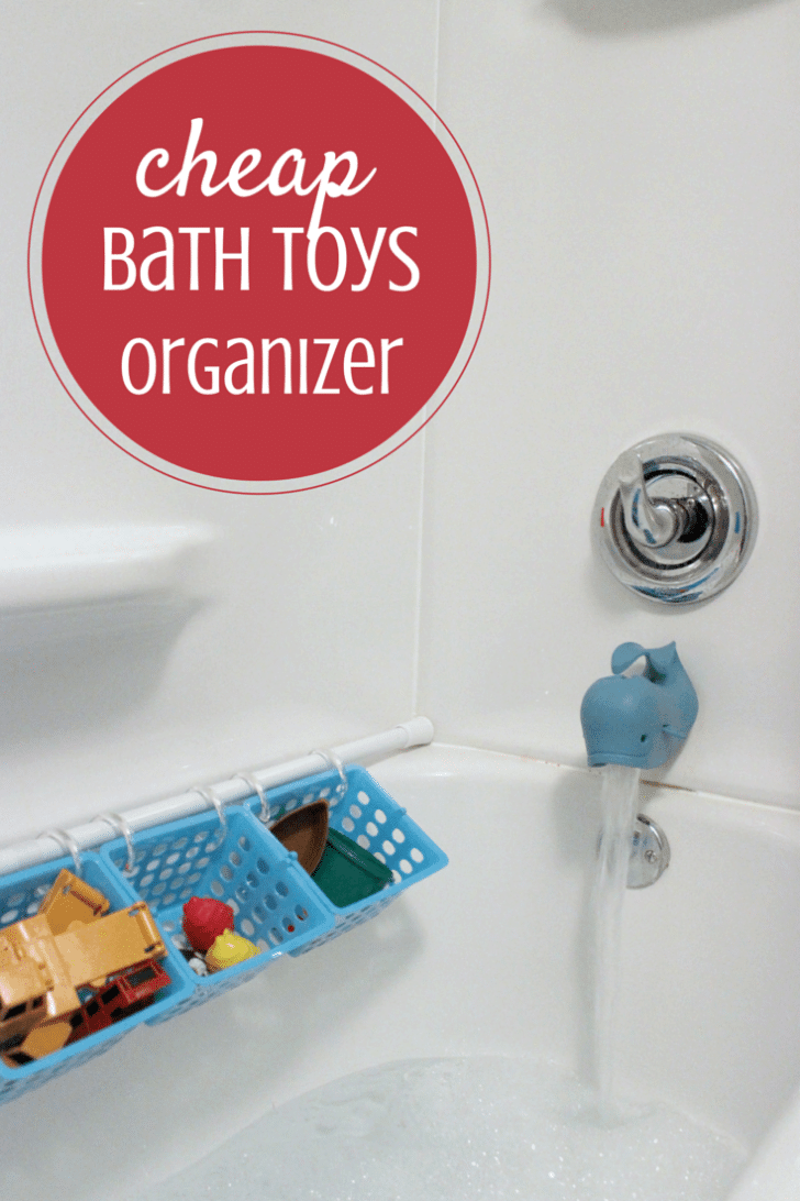 easy cheap bath toys organizer