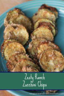 Using Your Garden Veggies: Zesty Ranch Zucchini Chips