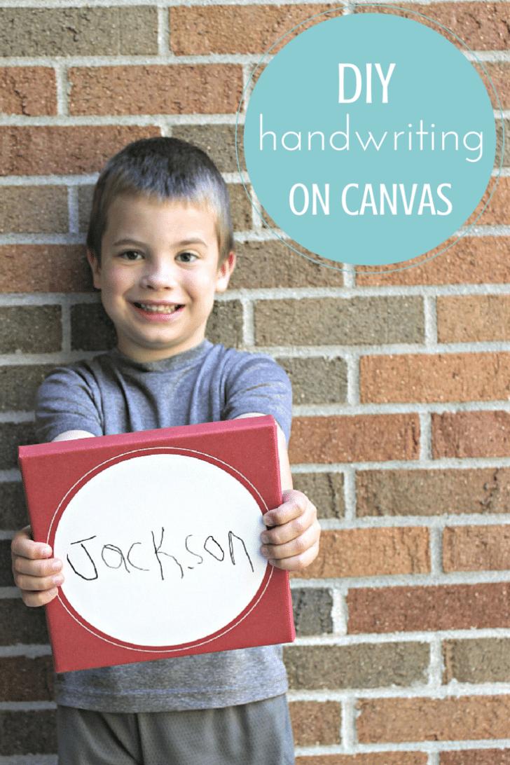 DIY handwriting canvas