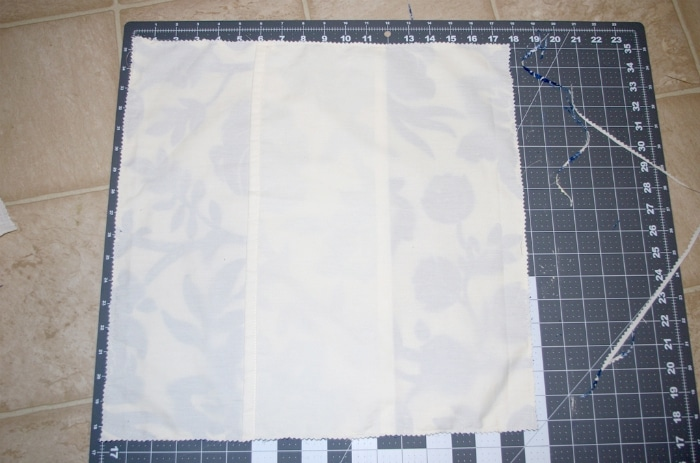 Sewing a pillow from scratch