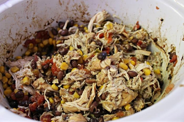 shredded chicken taco filling
