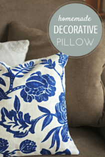 How To Make A Simple Decorative Pillow In Less Than 20 Minutes