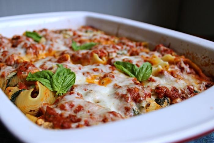 finished shells lasagna