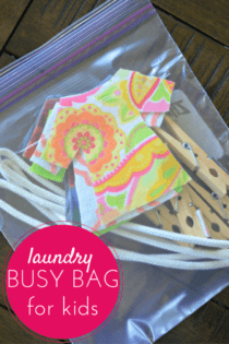 Laundry Busy Bag
