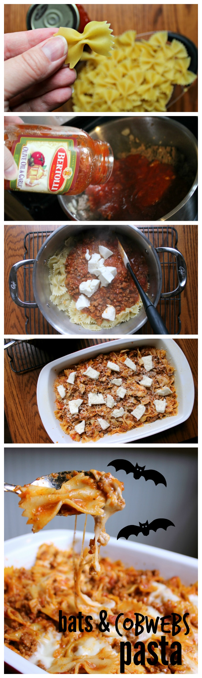 baked pasta recipe for Halloween and fall