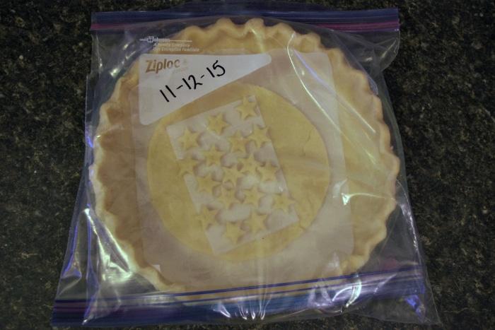 Freezer pie crust