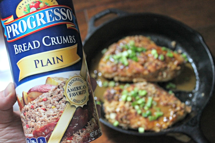 Progresso bread crumbs plain in Bourbon pecan chicken