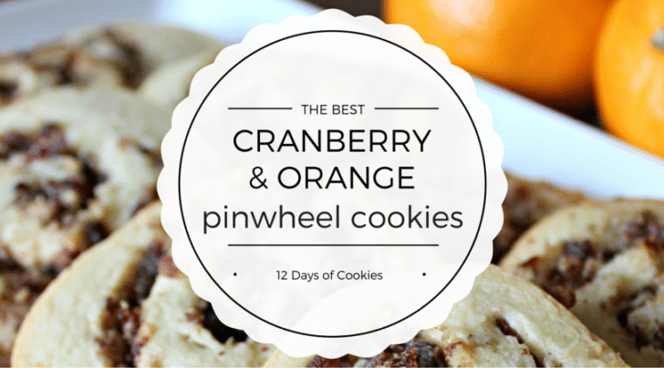 cranberry and orange pinwheel cookies