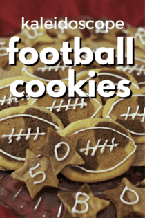 Chocolate & Expresso Kaleidoscope Football Cookies