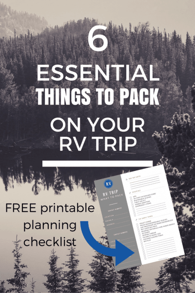 essential things you need to pack for an RV trip