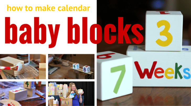 how to make your own baby blocks to give as gift for baby shower fb