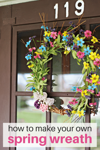 How to make your own spring wreath for your door. Step by step instructions.