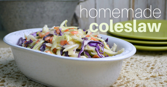 homemade coleslaw, easy, creamy, crunchy