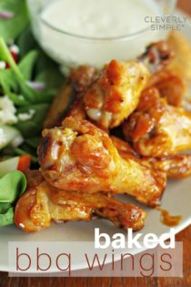 Easy Oven Baked BBQ Wings