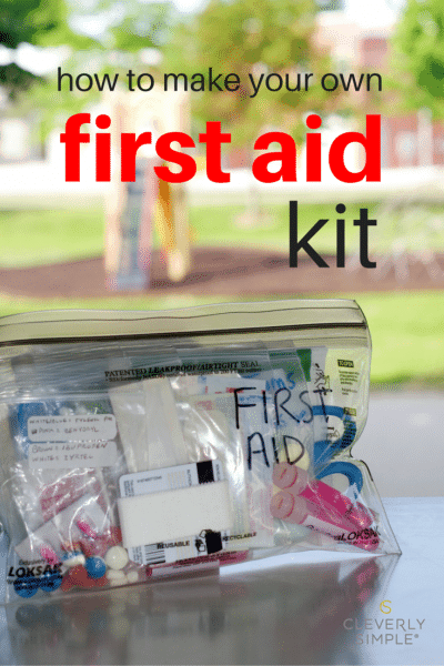how to make your own homemade first aid kit c