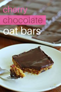 Chocolate Cherry Oat Bars