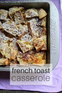 Easy Overnight Baked French Toast Casserole