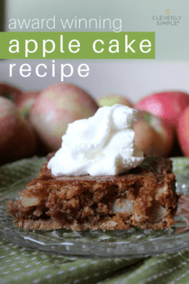 Award Winning Easy Apple Cake Recipe