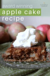 Award Winning Easy Apple Cake Recipe
