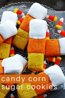 Easy Candy Corn Sugar Cookie Bars