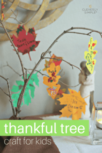 Homemade Thankful Tree Craft For Kids