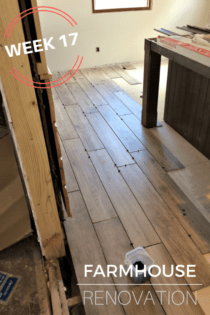 Farmhouse Renovation Week 17 (The Kitchen Floor & Picture Railing)
