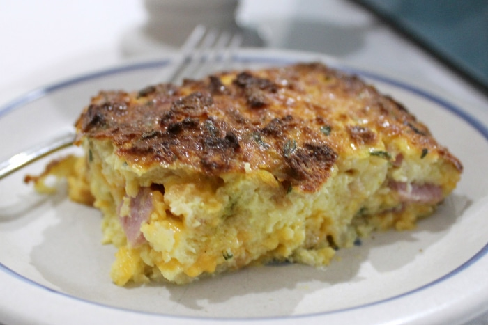 Easy ham and egg breakfast casserole 1