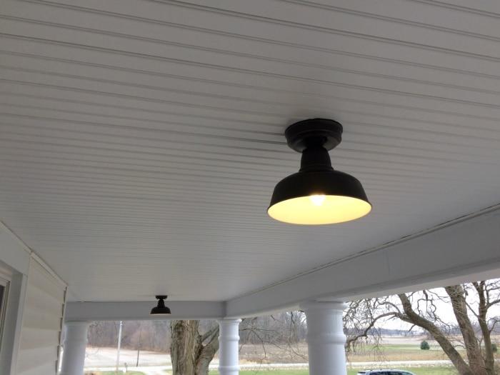 Farmhouse renovation week 21 porch lights outside