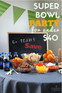 Super Bowl Party for Under $40