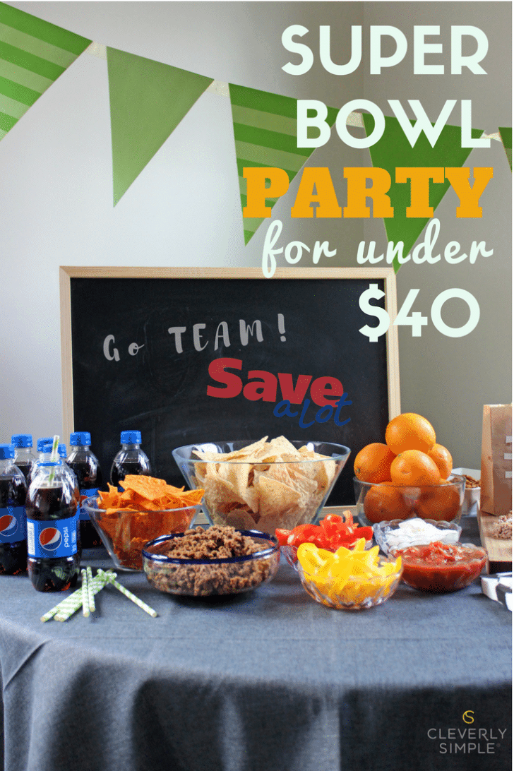 super bowl party with Save-A-Lot
