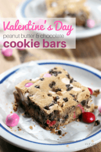 Valentine's Day Cookie Bars