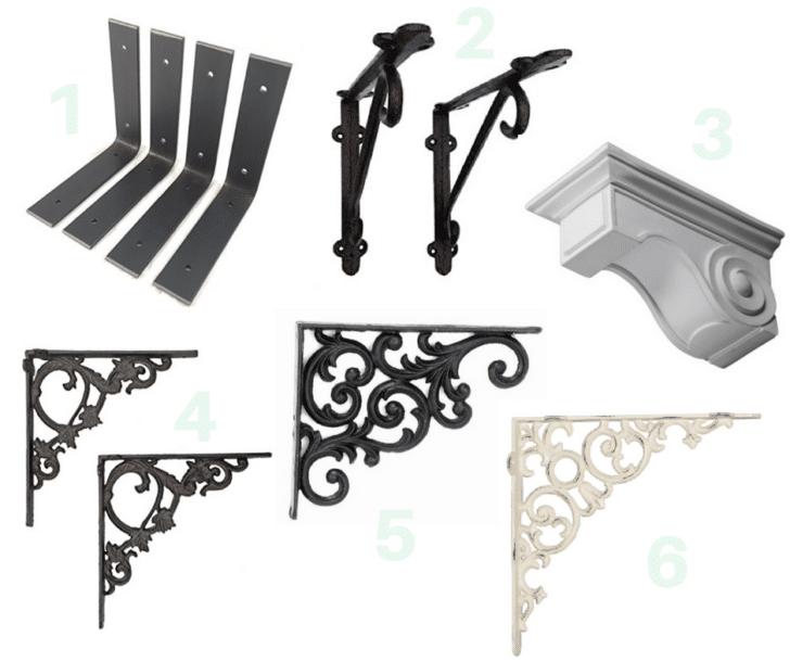 barn wood shelf bracket options