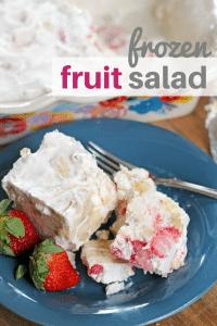 frozen fruit salad with strawberries bananas