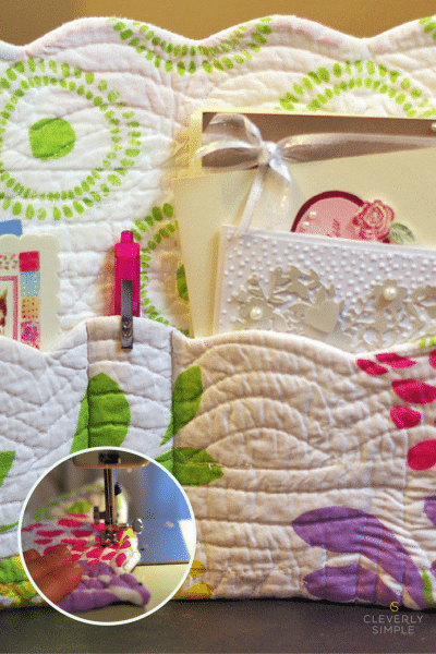 DIY Organizer Made From placemat (2)