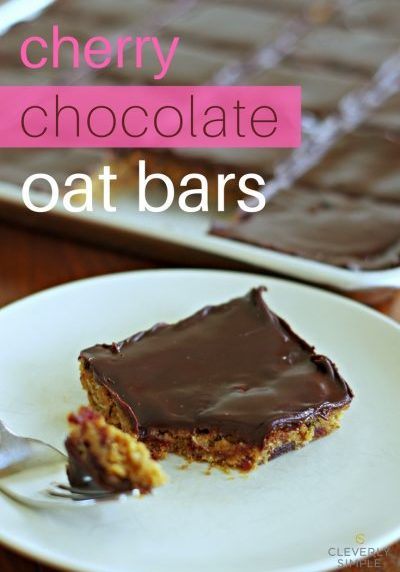 Cherry Chocolate Oats Bars