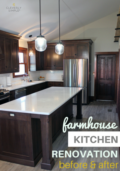 Farmhouse Kitchen Renovation Before and After Pictures