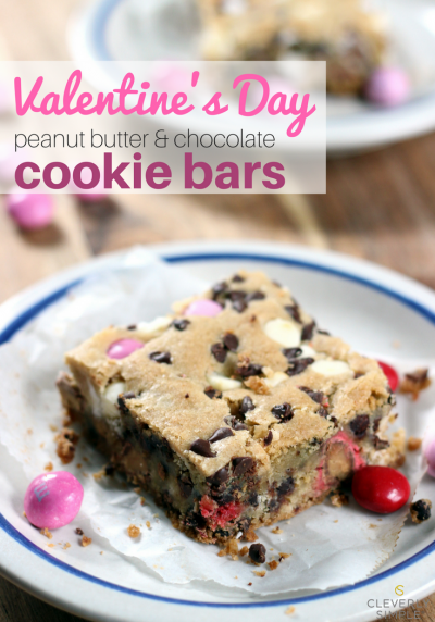 Valentine's Day Cookie Bars - P