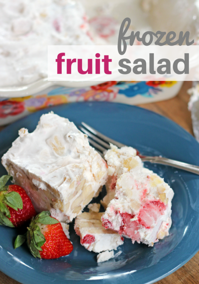 frozen fruit salad with strawberries bananas