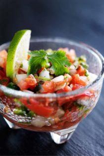 dried cilantro in salsa