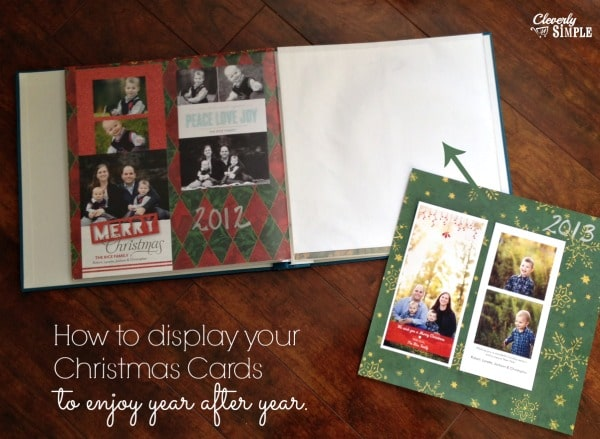 How to Display Your Christmas Cards Holiday Cards Scrapbook