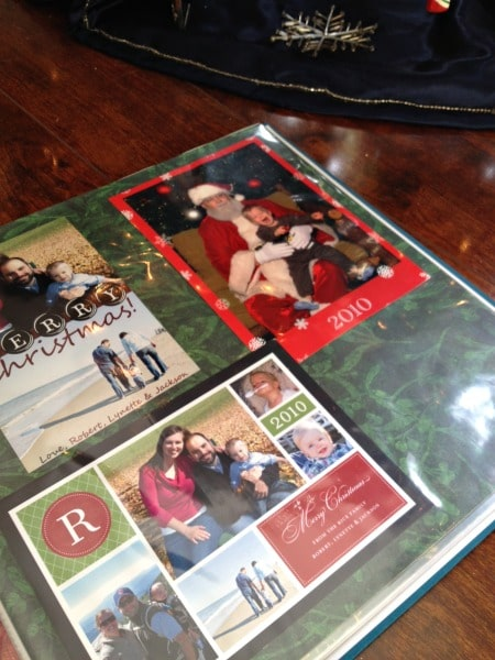 How to Display Your Christmas Cards in Scrapbook