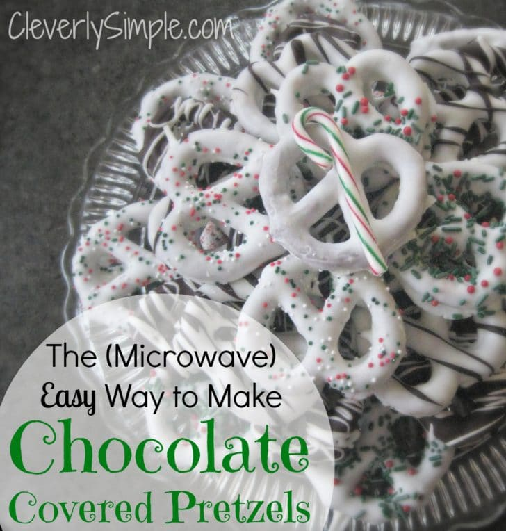 Microwave Chocolate for Chocolate Covered Pretzels